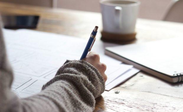 Student preparing a Cambridge exam